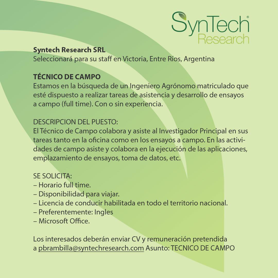 Búsqueda Técnico de campo Syntech