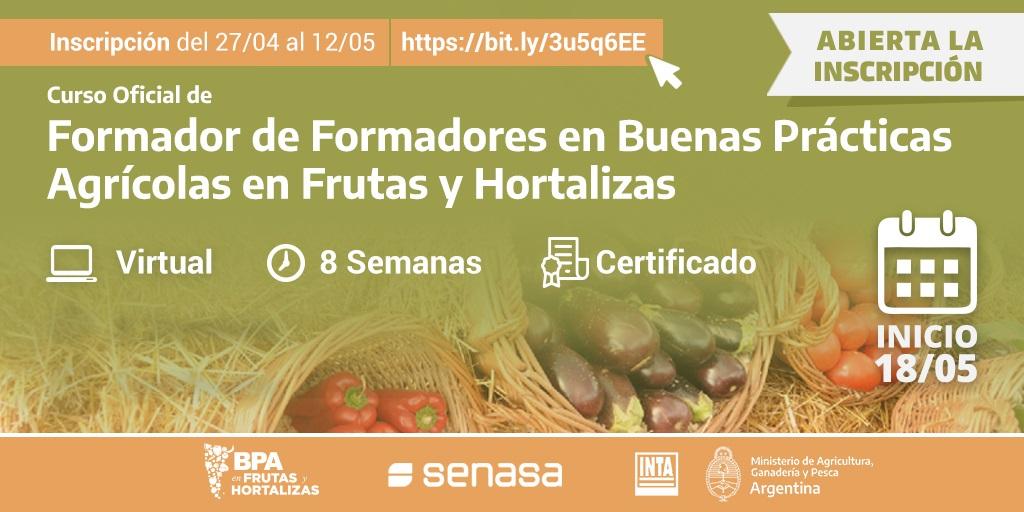 Curso BPA en frutas y hortalizas