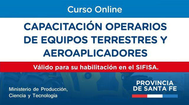 Curso operarios de equipos terrestres y aeroaplicadores